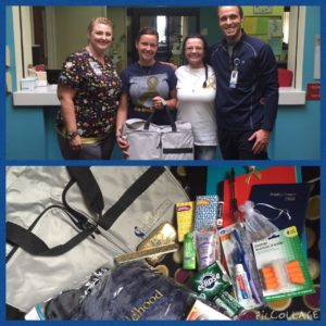 Love for Zac provided Hospital Care Bags to newly diagnosed families at Loma Linda Children's Hospital in CA.