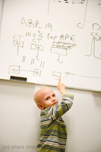 Alex at white board