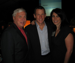 Dr. Andrew von Eschenbach, former Director FDA, Lance Armstrong and ACCO Director Ruth Hoffman