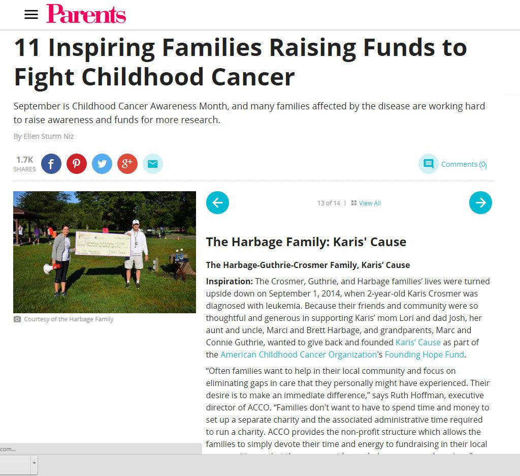 parents mag kids CANCER