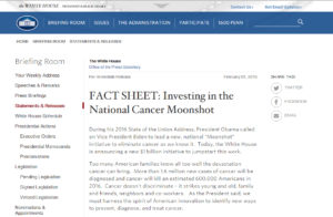 moonshot cancer fact sheet