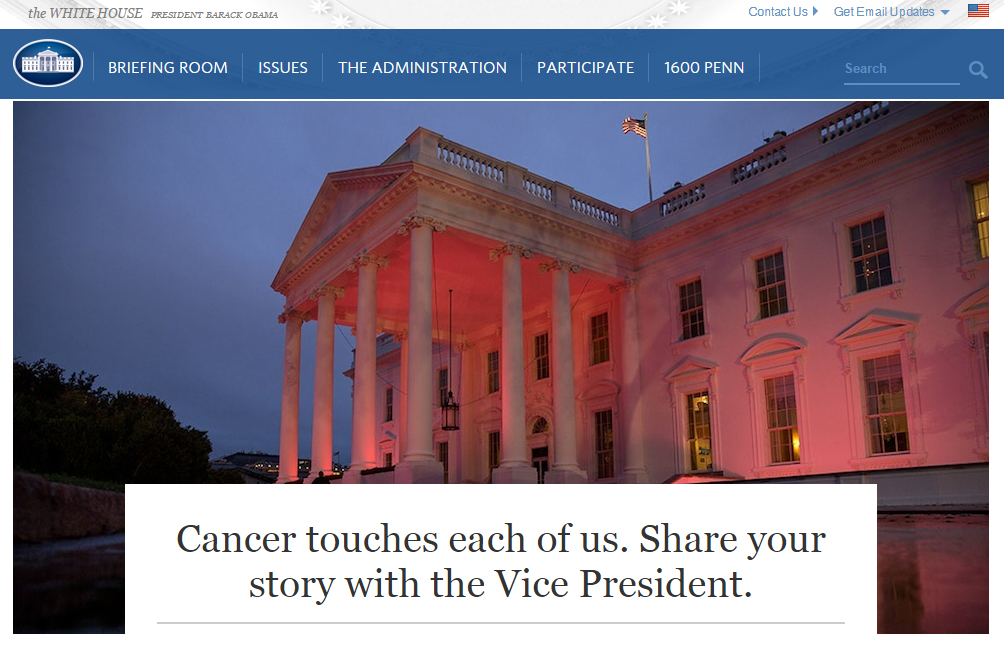 share your cancer story with vice president biden