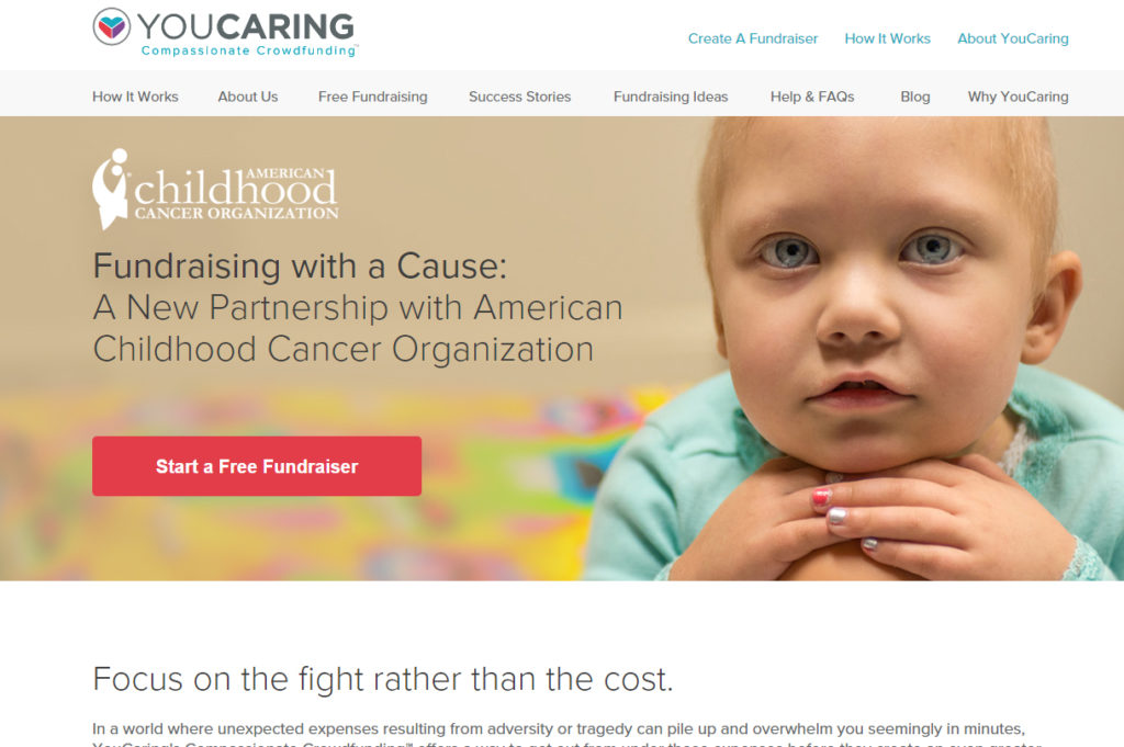 you caring acco childhood cancer page